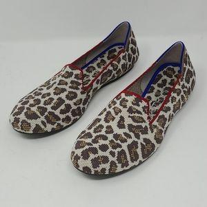 Rothys Mocha Spot Loafers Size 7.5
